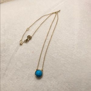 Stella & Dot Turquoise Circle Necklace